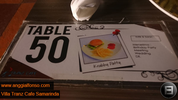 table 50 villa tranz cafe samarinda